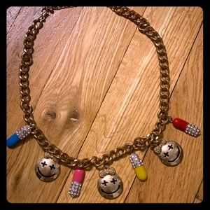 Smiley Face and Pill Fashion Necklace